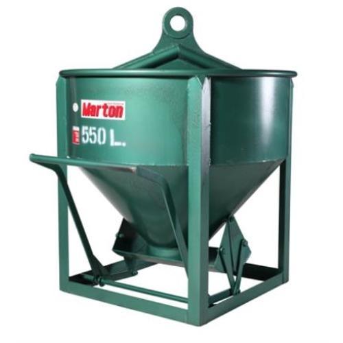 MARTON พ๊อกเก็ตหิ้วปูน 550 ลิตร เทตรง  PC3-0-AAA0500 สีเขียว