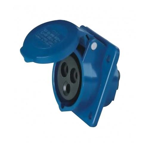 V.E.G ปลั๊กตัวเมียฝังแบบตรง  RG-313 สีน้ำเงิน