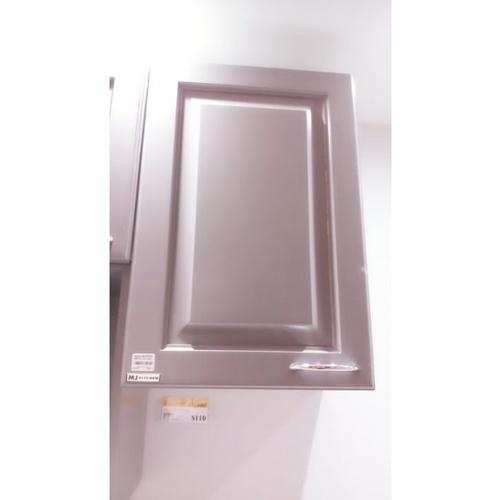 ตู้แขวนเดี่ยวทึบตรง W604-W/G สีขาว-เทา MJ  เทา