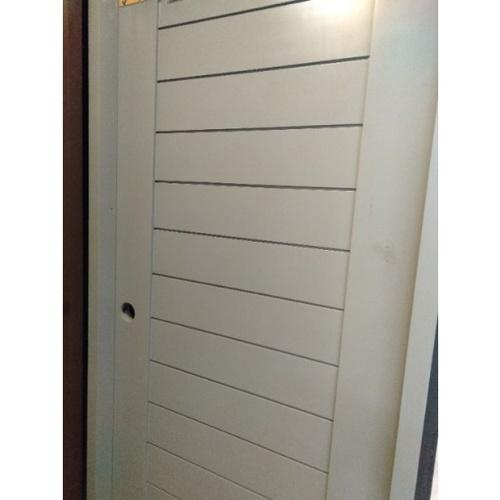 MJ ประตูไม้จริง ขนาด 80x200 cm.  A80-G สีเทา
