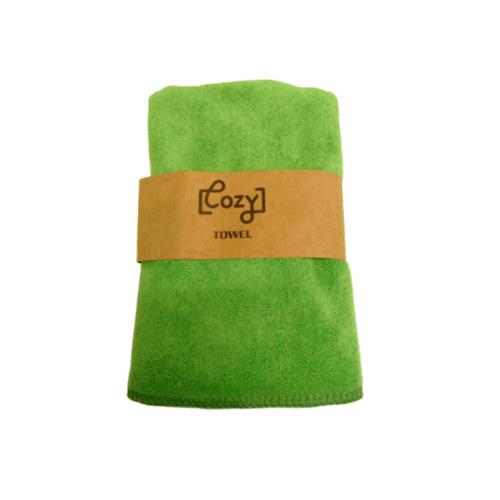 COZY ผ้าขนหนูไมโครไฟเบอร์  30x70 ซม.  BQ015-FGN  สีเขียว