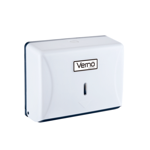 VERNO กล่องกระดาษเช็ดมือ PQS-OB8101A สีขาว