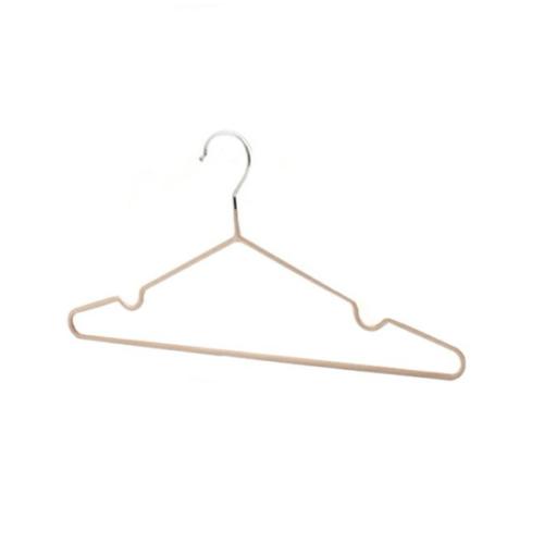 SAKU ไม้แขวนเสื้อเหล็กเคลือบ บรรจุ 6ชิ้น/แพ็ค  AN10 สีกากี