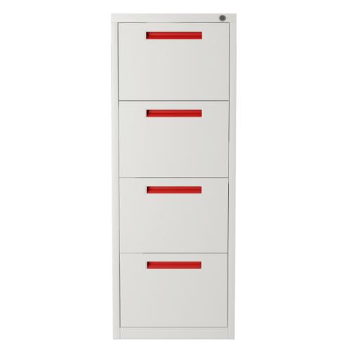 ULA ตู้ลิ้นชักเก็บเอกสาร 4 ชั้น 45.2x62x133.1ซม.  BDL12 ขาว-ส้ม