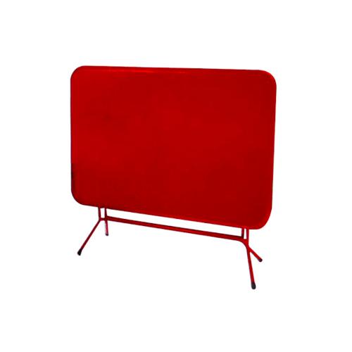 - โต๊ะพับเหล็ก 4ฟุต  IT76116 สีแดง