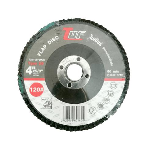 TUF  ใบเจียร์ผ้าทรายซ้อนหลังแข็ง T29-100x16x120P