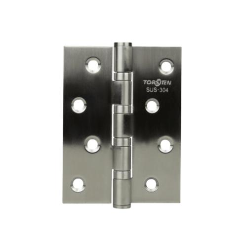 TORSTEN บานพับสเตนเลสเกรด304 ขนาด 4 นิ้ว x3 นิ้ว x2mm สีสเตนเลส (3ชิ้น) HSS304-4320SL3