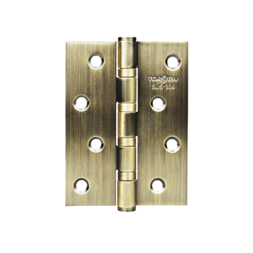 TORSTEN บานพับสเตนเลสเกรด304 ขนาด 4 นิ้ว x3 นิ้ว x2mm สีทองเหลืองรมดำ (3 ชิ้น) HSS304-4320BZ3