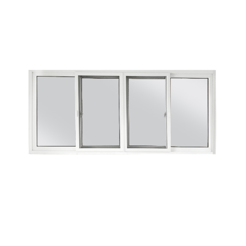 Wellingtan หน้าต่างไวนิล บานเลื่อน ขนาด 240cm.x110cm. พร้อมมุ้ง FSSF (2-T) GYW3001 สีขาวเทา