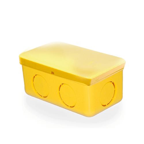 V.E.G กล่องพักสายไฟสี่เหลี่ยม 4x2นิ้ว  -  สีเหลือง
