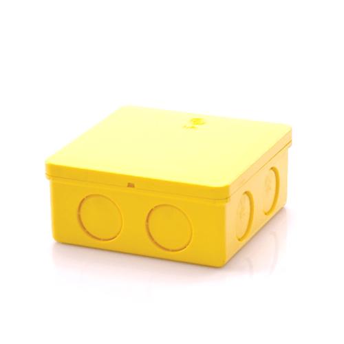 V.E.G กล่องพักสายสี่ไฟสี่เหลี่ยม 4x4 นิ้ว  -  สีเหลือง