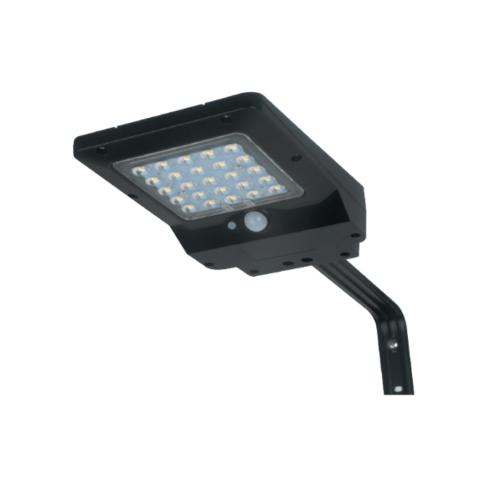 LUCECO ไฟ LED ถนนโซล่าร์เซลล์ 8W LEXSS85B60-GH สีดำ