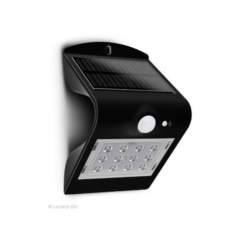 LUCECO ไฟ LED ผนังโซล่าร์เซลล์ LEXS40B40-GH สีดำ