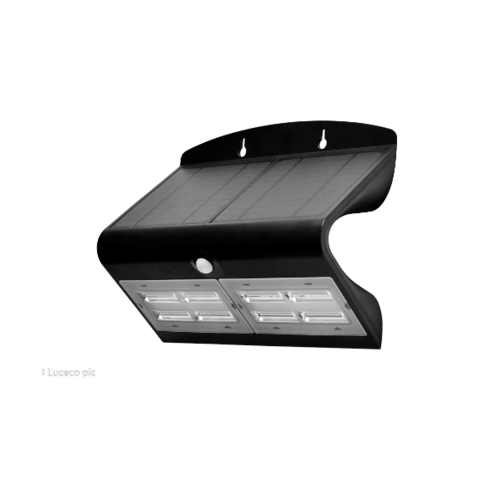 LUCECO ไฟ LED ผนังโซล่าร์เซลล์ LEXS80B40-GH สีดำ