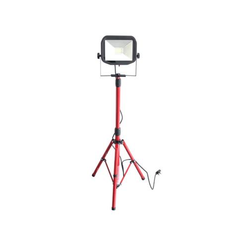 LUCECO โคมฟลัดไลท์มีขาตั้งแบบสลิม LSWT130BR3TH-GH 1x38W สีแดง