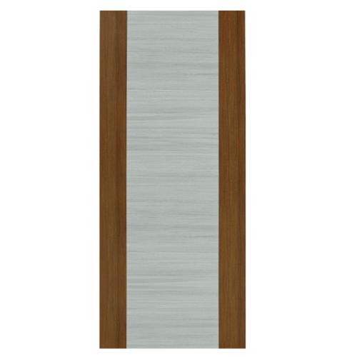 HOLZTUR ประตูเมลามีน ขนาด 80x200ซม.  MD-MD43 GRAY WENGE – BROWN OAK น้ำตาลเข้ม