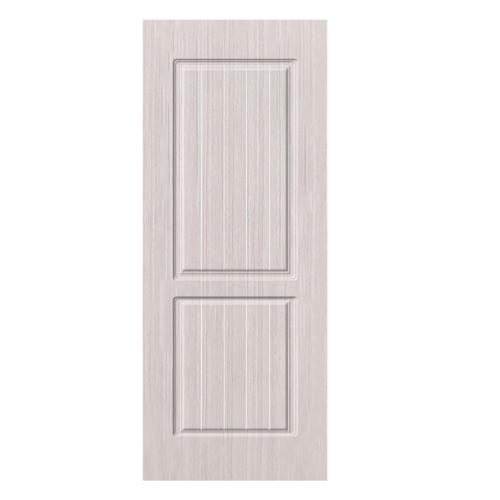 HOLZTUR ประตูปิดผิวพีวีซี บานทึบลูกฟัก ขนาด 80x200ซม.  PVC-P19-2  SILVER OAK