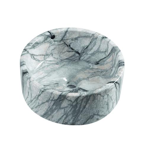 VERNO อ่างล้างหน้าวางบนเคาน์เตอร์ VN-12134WT(156A)  ขาว-เทา