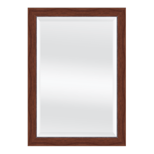 NICE กระจกเงามีกรอบ 40x60 cm.สีลายไม้ 3505-716ST