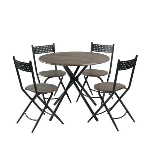 Delicato ชุดโต๊ะอาหาร 4 ที่นั่ง HARE BROWN สีน้ำตาลอ่อน