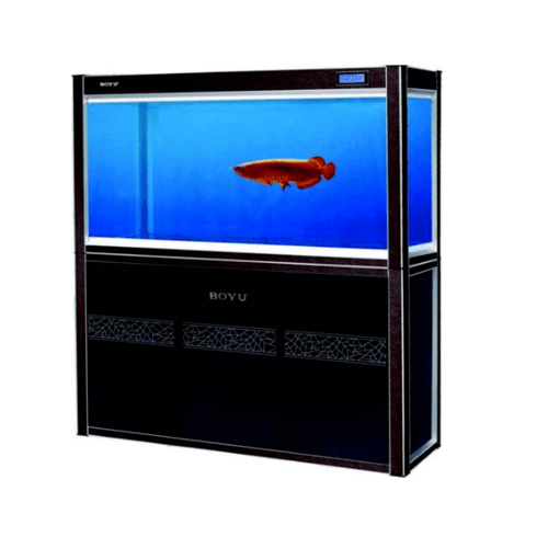 BOYU ตู้ปลา  580 ลิตร  พร้อมที่วาง  LG-1800L สีดำ