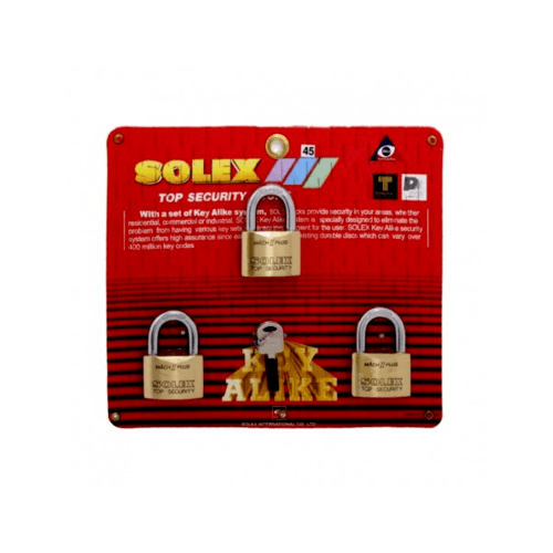 SOLEX กุญแจคล้อง  KEY ALIKE 3:1 MACH II   ขนาด 45 MM