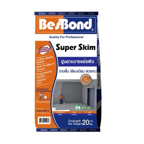 BESBOND ปูนฉาบแต่งผิว SUPER SKIM 20 KG.