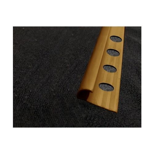 MAC  คิ้วกระเบื้องโค้ง PVC GGW-038-LBN 10mm  สีน้ำตาล