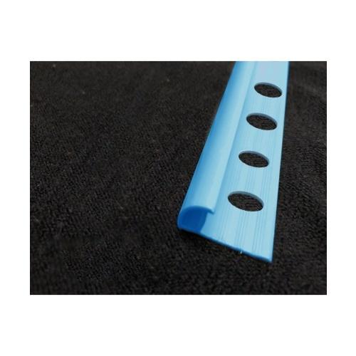 MAC คิ้วกระเบื้องโค้ง PVC ขนาด 8mm  GGW-037-BU สีน้ำเงิน
