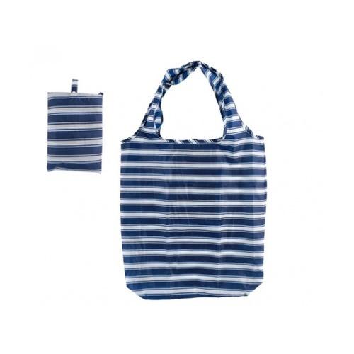 USUPSO USUPSO กระเป๋าผ้าพับเก็บได้ สีน้ำเงิน (#D)  ขาว
