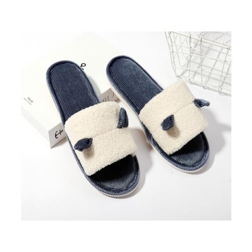 USUPSO USUPSO รองเท้าใส่ในบ้าน Velvet teddy สีน้ำเงิน 37-38 (#BU9)  ขาว