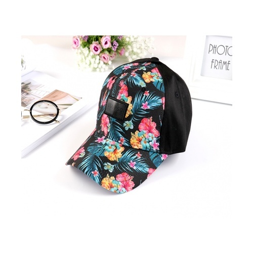 USUPSO  หมวก  Floral Flat  สีดำ
