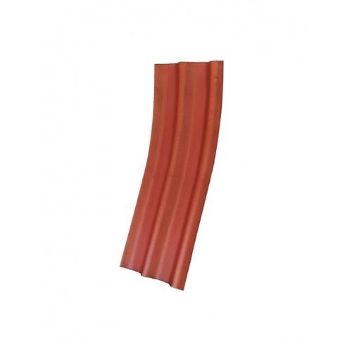 โอฬาร กระเบื้องปลายงอน 0.5x50x120 ซม.สีประกายทองแดง (ลูกโลก)  ลอนคู่