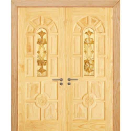 D2D ประตูไม้สนนิวซีแลนด์ ขนาด 80x200 cm.   SET2 D2D-415