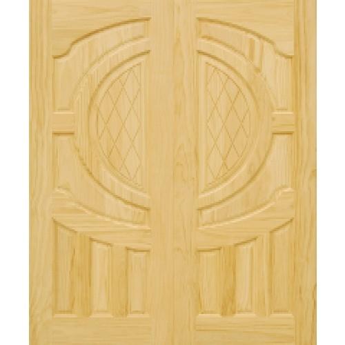 D2D ประตูไม้สนนิวซีแลนด์  ขนาด 90x200cm.  D2D-304