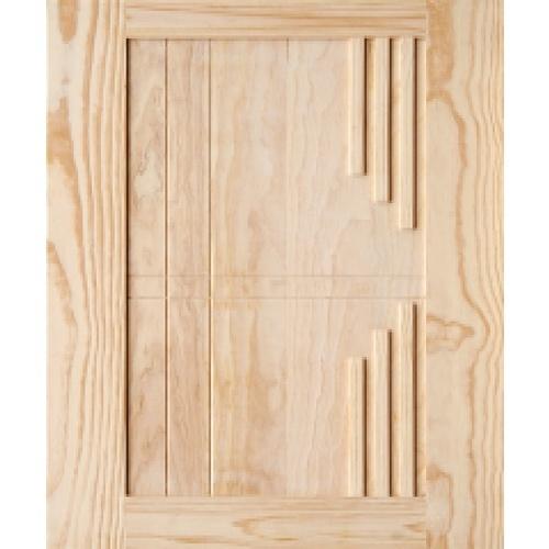 D2D ประตูไม้สนนิวซีแลนด์บานทึบทำร่อง ขนาด 100x200cm. D2D-514