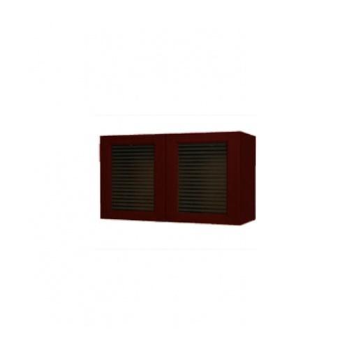 MJ ตู้แขวนคู่กระจกตรง W408G-MK สีมะค่า MJ  มะค่า