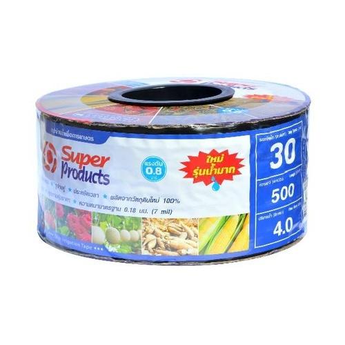 Super Products เทปจ่ายน้ำขนาด 16 มม. 4 ลิตร/ชม./30ซม./500หลา Super Products 30cm.500หลา