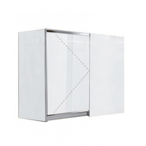 KITZCHO ตู้แขวนเข้ามุมซ้าย Charisma KZM-CHR-W-CF-7090L-WH สีขาว KITZCHO  ขาว