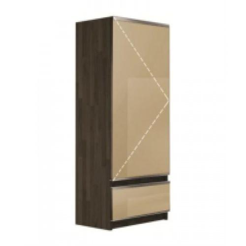 ตู้แขวนบานเดี่ยวกระจกเปิดขวา CHARISMA KZM-CHR-W-MR-1C60R-OA สีโอ๊ค KITZCHO  โอ๊ค