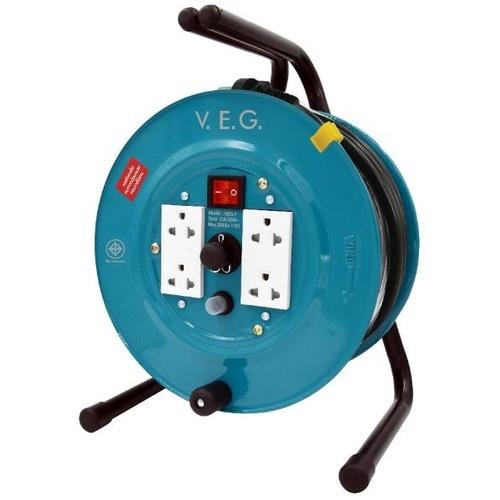 V.E.G.  ล้อเก็บสายไฟ 16A 3600W สายไฟยาว 30M   VEG-1530  สีเขียว