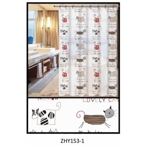 PRIMO ผ้าม่านห้องน้ำ PEVA ลายการ์ตูน ขนาด 180*180 ซม. DF019