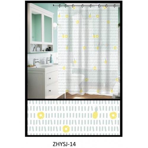 PRIMO ผ้าม่านห้องน้ำ PEVA ลายกราฟฟิก ขนาด 180*180 ซม. DF022