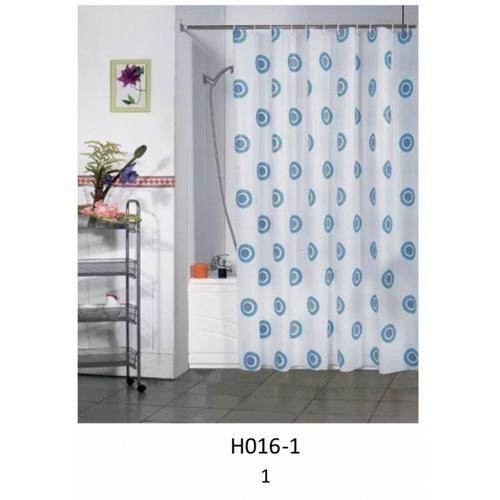 PRIMO ผ้าม่านห้องน้ำ PEVA ลายกราฟฟิก ขนาด 180x180ซม.  DF029 สีฟ้า