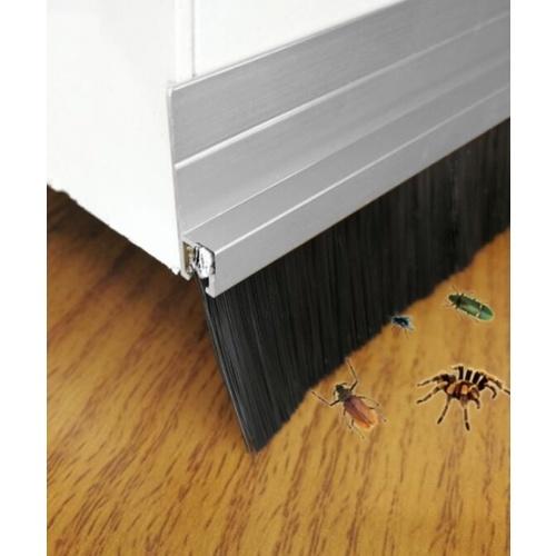 BIGROW เส้นกันแมลงอะลูมิเนียม แถบขนแปรง ขนาด 100ซม. KZT011 สีขาว