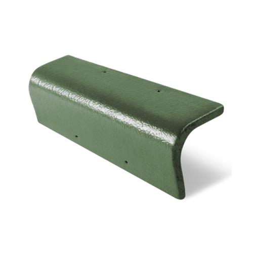 ตราเพชร ครอบข้าง  กระเบื้อง CT Gran Onda สีเขียวสนฉัตร