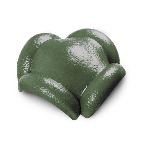 ตราเพชร ครอบสันโค้ง 4 ทาง CTเพชร รุ่น แกรนออนด้า ขนาด 37x36 ซม. สีเขียวตองอ่อน