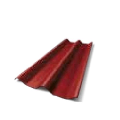 ตราเพชร กระเบื้องลอนคู่ รุ่น 5 มม. 1.5 ม. ขนาด 0.5x50x150ซม.แดงมั่งมี