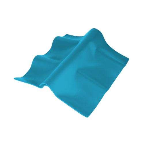 ตราเพชร ครอบปรับมุม ตัวบน กระเบื้องลอนคู่ ขนาด 55x33 ซม. สีฟ้าร่มรื่น