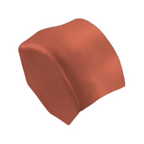 ตราเพชร ครอบปิดจั่ว ขนาด 27.5x15.5 ซม. สีส้มทองมังกร กระเบื้องลอนคู่